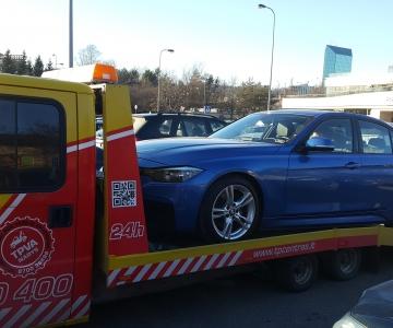 TPVA  naujo BMW M3 transportavimas