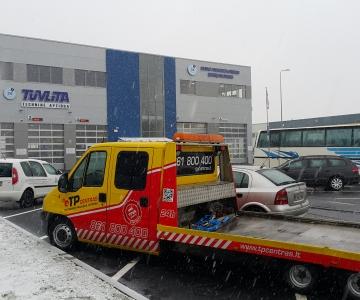 TPVA atlieka automobiliu transportavima i technines apziuros centrus