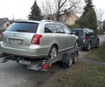 TPVA automobilio transportavimas su traliuku – priekaba