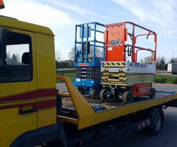 TPVA statybiniu keltuvu transportavimas