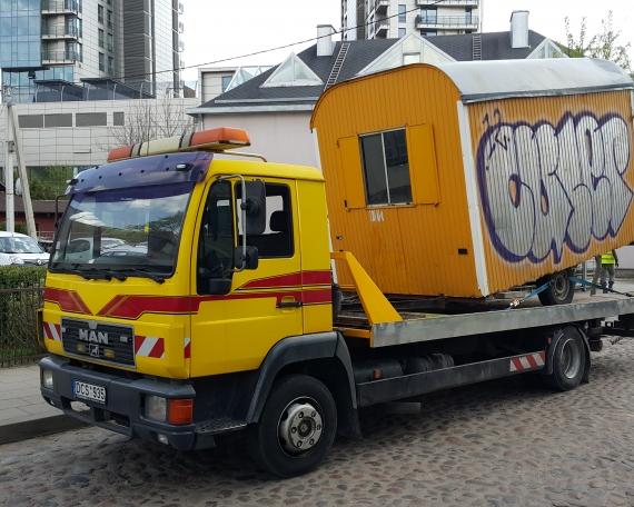 TPVA statybinio vagonelio pervezimas