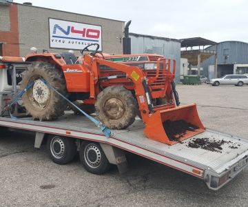TPVA mini traktoriu transportavimas